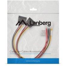Lanberg power кабель MOLEX(M)->SATA(F) x2...