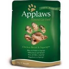 Applaws Eine kotike Chicken&Asparagus 12x70g