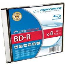 Diskid ESPERANZA BD-R 25GB x4 - Slim ümbris...
