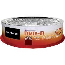 Диски Sony DVD-R 4.7GB 25-SPINDLE, 4.7, 120...