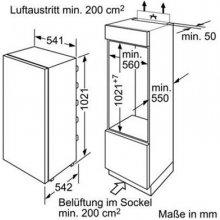 Külmik BOSCH KIL20V60 ohne Dekorblende (EEK:...