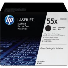 Тонер HP Toner Black 55X for P3015 LaserJet...