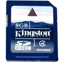 Флешка KINGSTON 8GB SDHC Card, Secure...