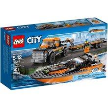 LEGO City Roadster koos boat