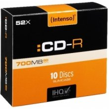 Диски INTENSO 1x10 CD-R 80 / 700MB 52x...