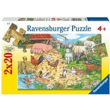RAVENSBURGER RAVEN. 2x20 EL. Zwierzęt a na...