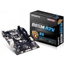 Emaplaat GIGABYTE GA-B85M-D2V, DDR3-SDRAM...