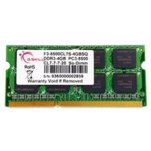 Mälu G.Skill SO DDR3 4GB PC 1066 CL7 4GBSQ