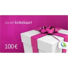 OX.ee kinkekaart 100 €