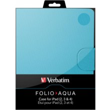 Verbatim iPad Sleeve Folio ipad 2/ipad aqua...