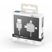 Allocacoc Power USB kaabel valge