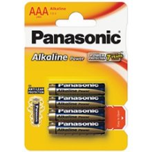 PANASONIC 1x4 LR03APB AAA/LR03, Alkaline, 4...