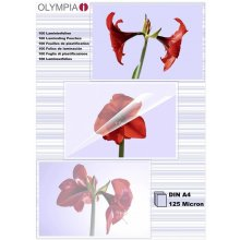 Olympia 1x100 Laminating pouches DIN A4 125...
