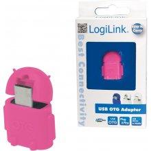 LogiLink - USB OTG адаптер, розовый