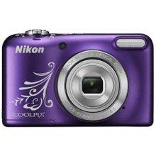Fotokaamera NIKON L31 hõbedane + nahast...