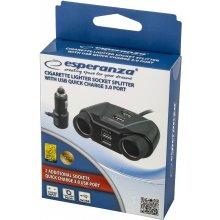 ESPERANZA Car splitter socket lighters quick...