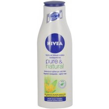 NIVEA Pure & Natural Body Milk, Cosmetic...
