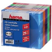 Диски Hama 1x25 CD-Sleeves Slim Box coloured...
