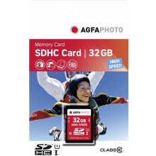 Флешка AGFAPHOTO SDHC Card 32GB High Speed...