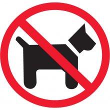 Apli Etiketid 114x114mm, koertega keelatud