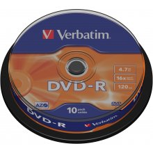 Диски Verbatim DVD-R 4,7GB 10 Spindel