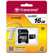 Mälukaart Transcend microSDHC Karte 16GB