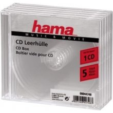 Hama 1x5 CD Jewel-Case transparent 44748