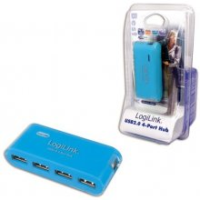 LogiLink USB-HUB 4-Port m. Netzteil синий