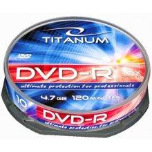 Diskid Titanum DVD-R 4,7 GB x16 - Cake Box...