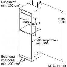 Külmik BOSCH KIL22VF30 Einbau-Kühlautomat...