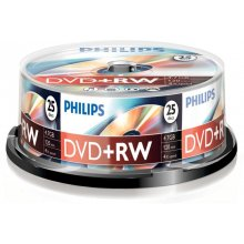 Toorikud Philips DVD+RW 4,7GB 25pcs spindel...