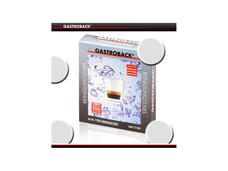 575fab8d255 Gastroback 12 pcs., Cleaning Tablets, for all espresso and coffee machines