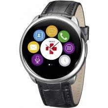 MyKronoz Smartwatch ZeRound Sliver кожаный...