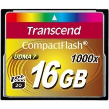 Mälukaart Transcend Compact Flash 16GB 1000x