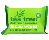 Xpel Tea Tree Cleansing Facial Wipes 25pc -...