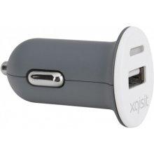 Xqisit Mini USB-KFZ Ladegerät 2.4Ah valge