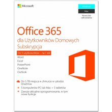 Microsoft Office 365 Home PL P2 1Y 1U/5PC...