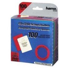 Diskid Hama 100 CD- / DVD-Schutzhüllen...