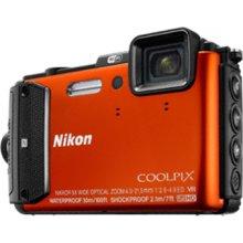Фотоаппарат NIKON AW130 оранжевый
