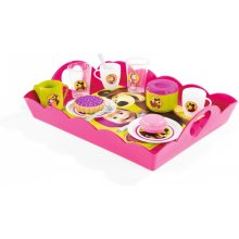 SMOBY Masha ja the Bear Cutlery koos a tray