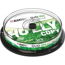 Toorikud EMTEC DVD-RW 4,7GB 10pcs 4x Cake...