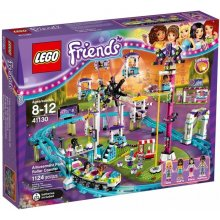 LEGO Friends roller coaster at an amusement...