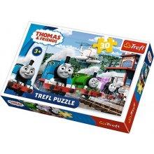 TREFL 30 pcs Thomas & Friends Race on tracks