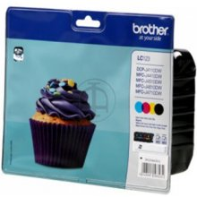 Tooner BROTHER LC-123, Black, Cyan, Magenta...