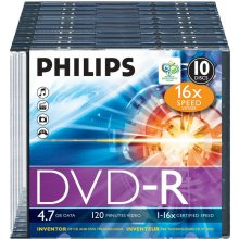 Diskid Philips DVD-R 4.7GB 16X 10er Pack