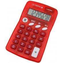 Калькулятор Olympia LCD 825 красный