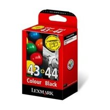 Tooner Lexmark Twin-Pack No.44XL/43XL Black...