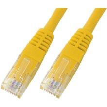 Mcab CAT5e-U / UTP-PVC-1.00M-YEL