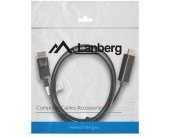 Lanberg cable DaispleyPort(M)->HDMI 1m black