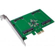 LogiLink PC0078 PCI-Express Karte 2x mSATA